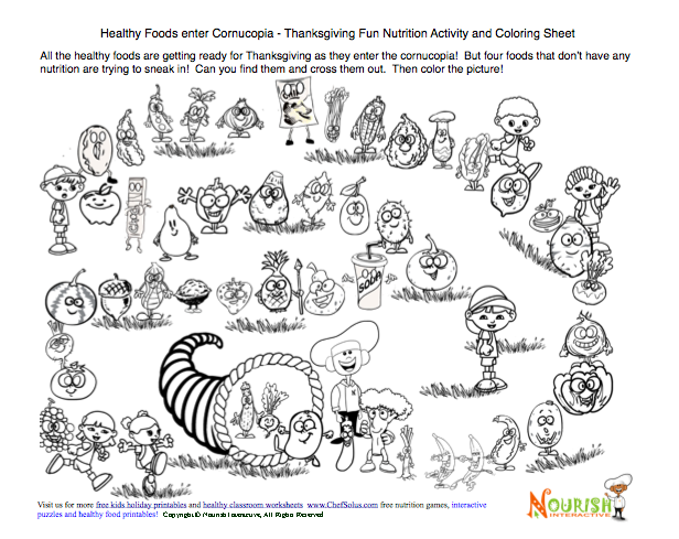Spanish Pages Thanksgiving Coloring Pages