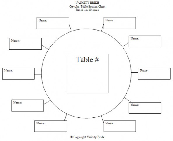 6 Images of Printable Wedding Table Seating Chart