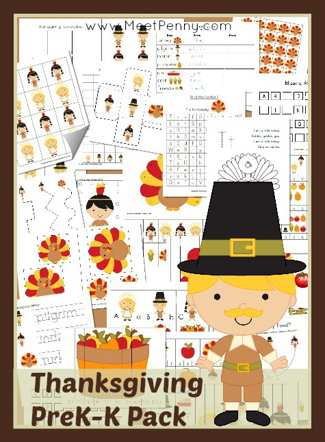 6 Images of Free Thanksgiving Printable Pack