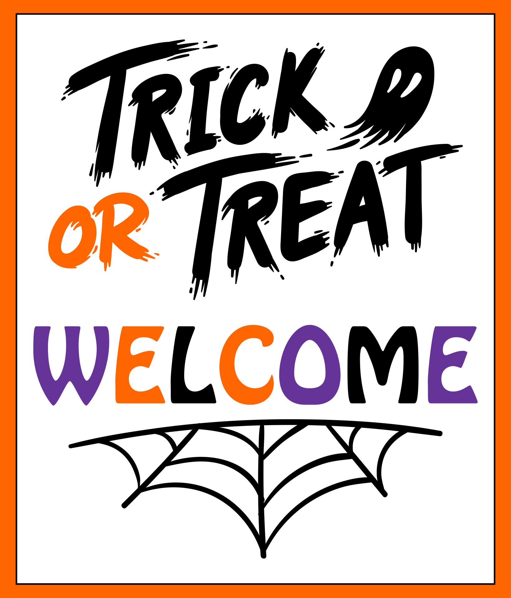 Decorating Ideas > 8 Best Images Of Welcome Trick Or Treat Sign Halloween  ~ 045651_Halloween Door Signs Printable