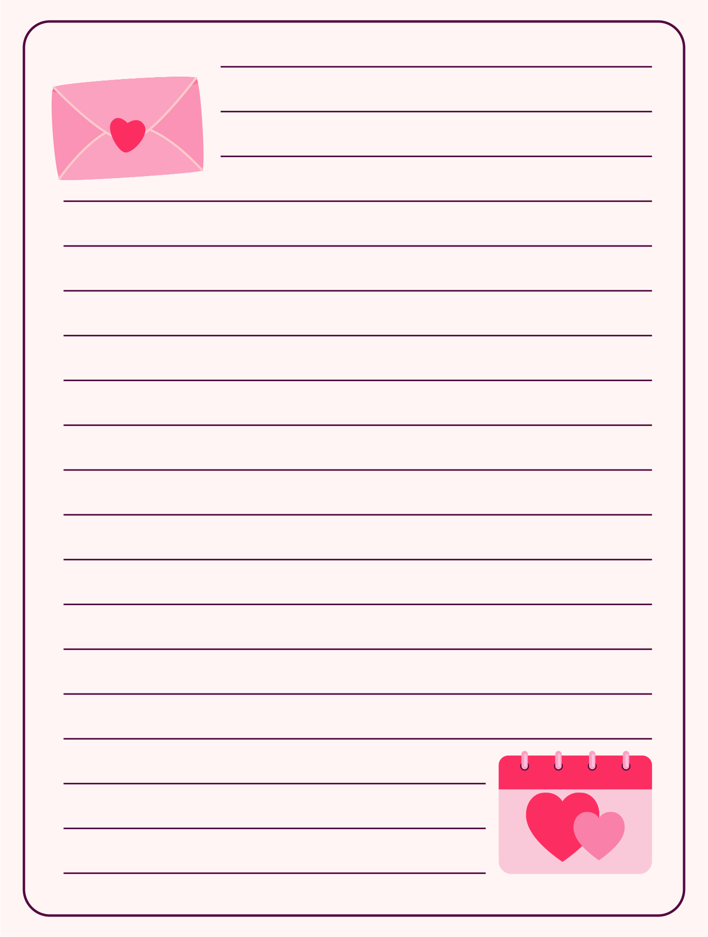 Valentine Letter Paper