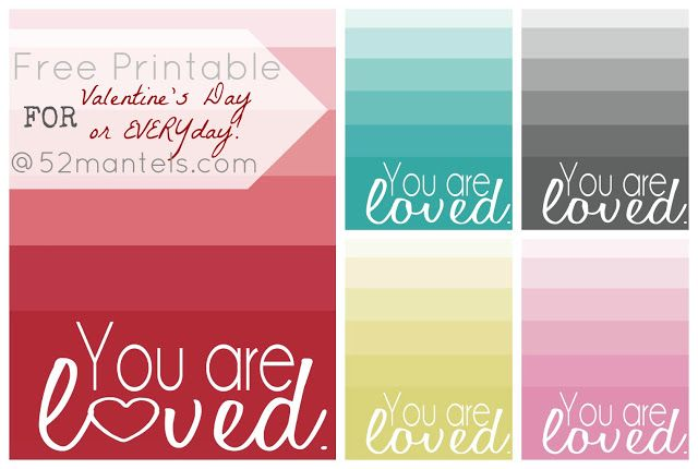 8 Images of You Are Loved Printables