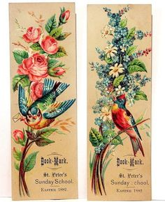 Victorian Easter Bookmarks