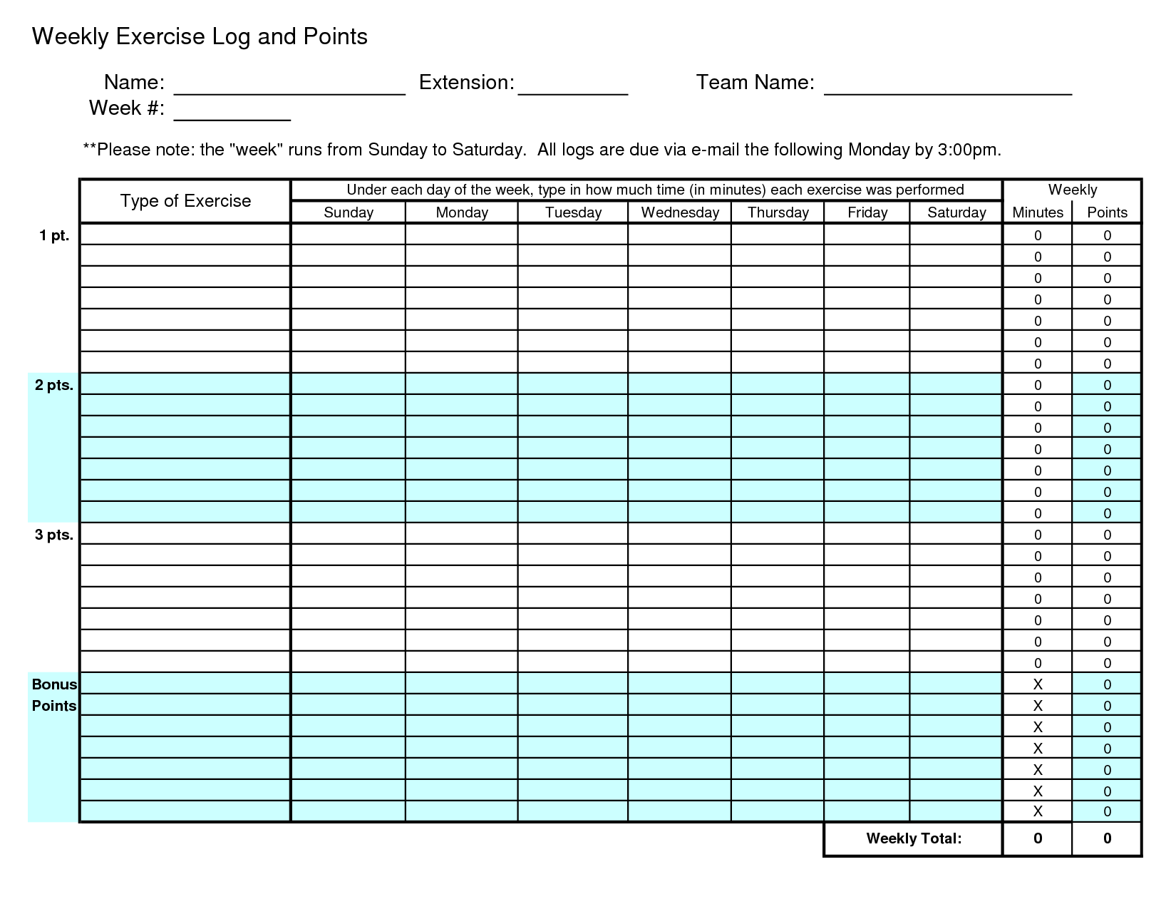 Search results for excel weekly workout template for Fitness plan template weekly