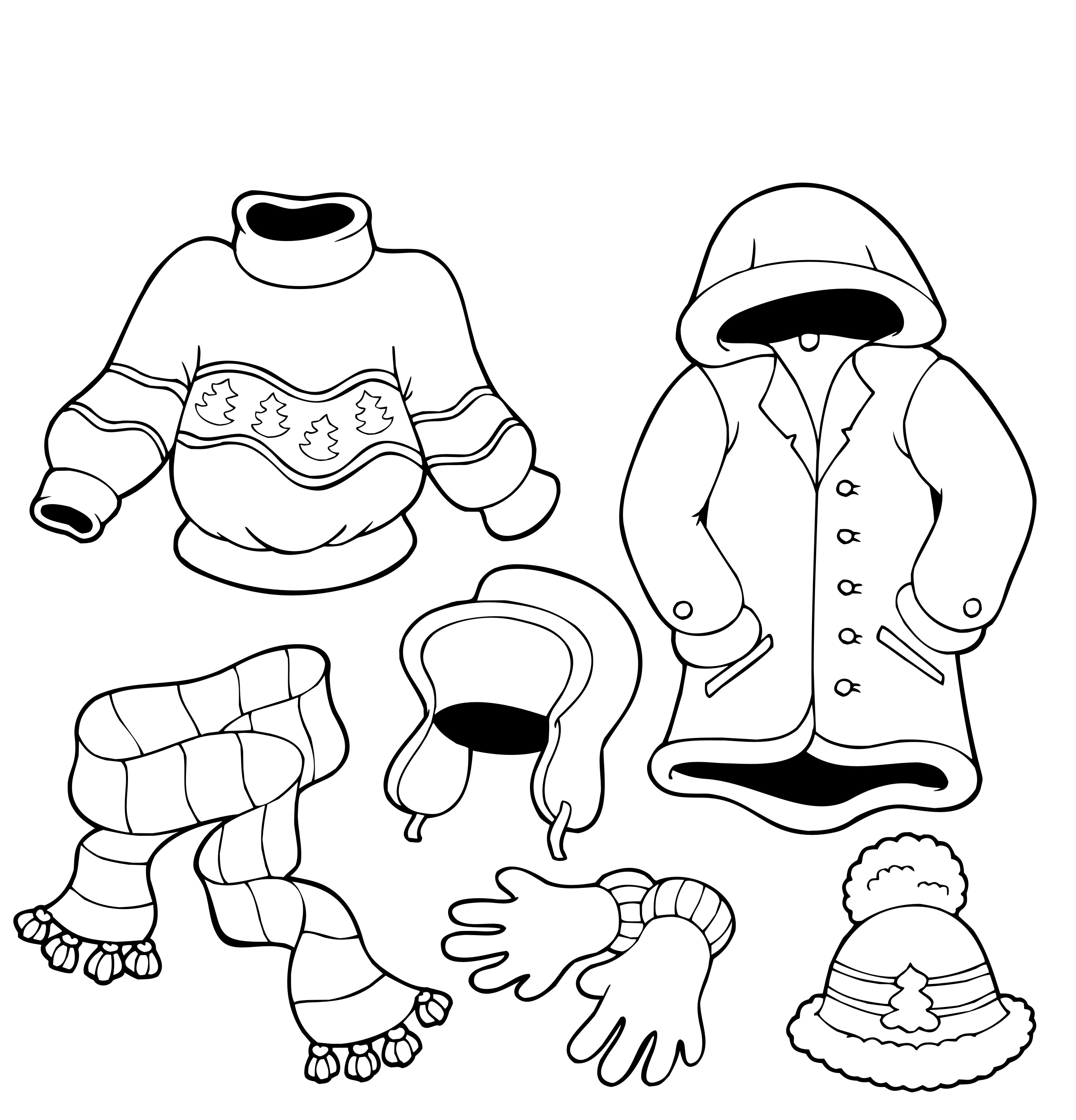 4 Images of Free Printable Winter Coloring Pages