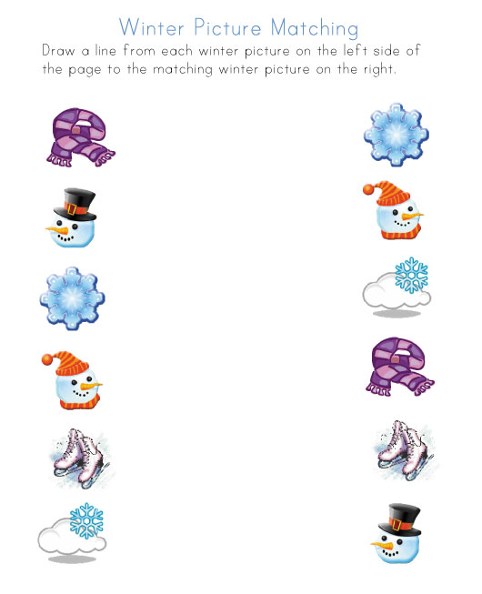 Free Winter Math Worksheets