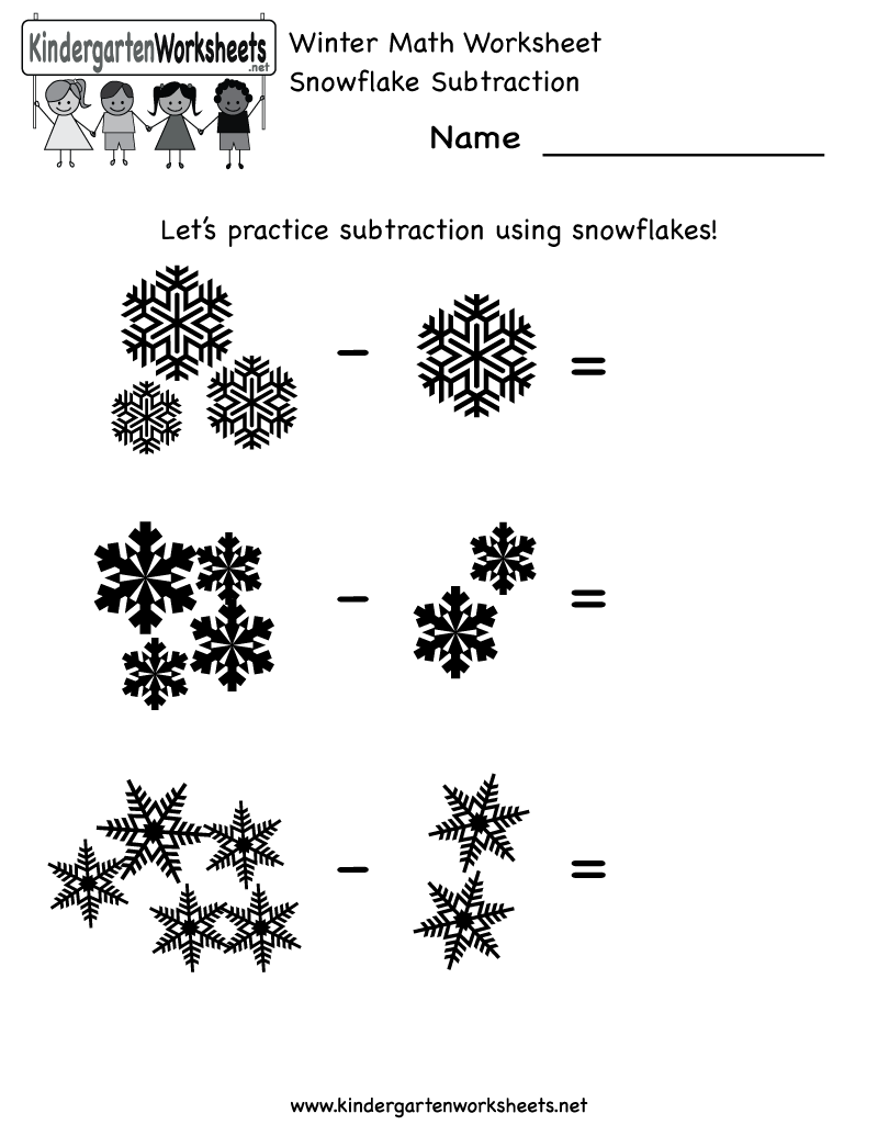Winter Math Worksheets Printable