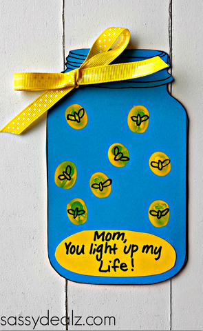 You Light Up My Life Mothers Day Craft