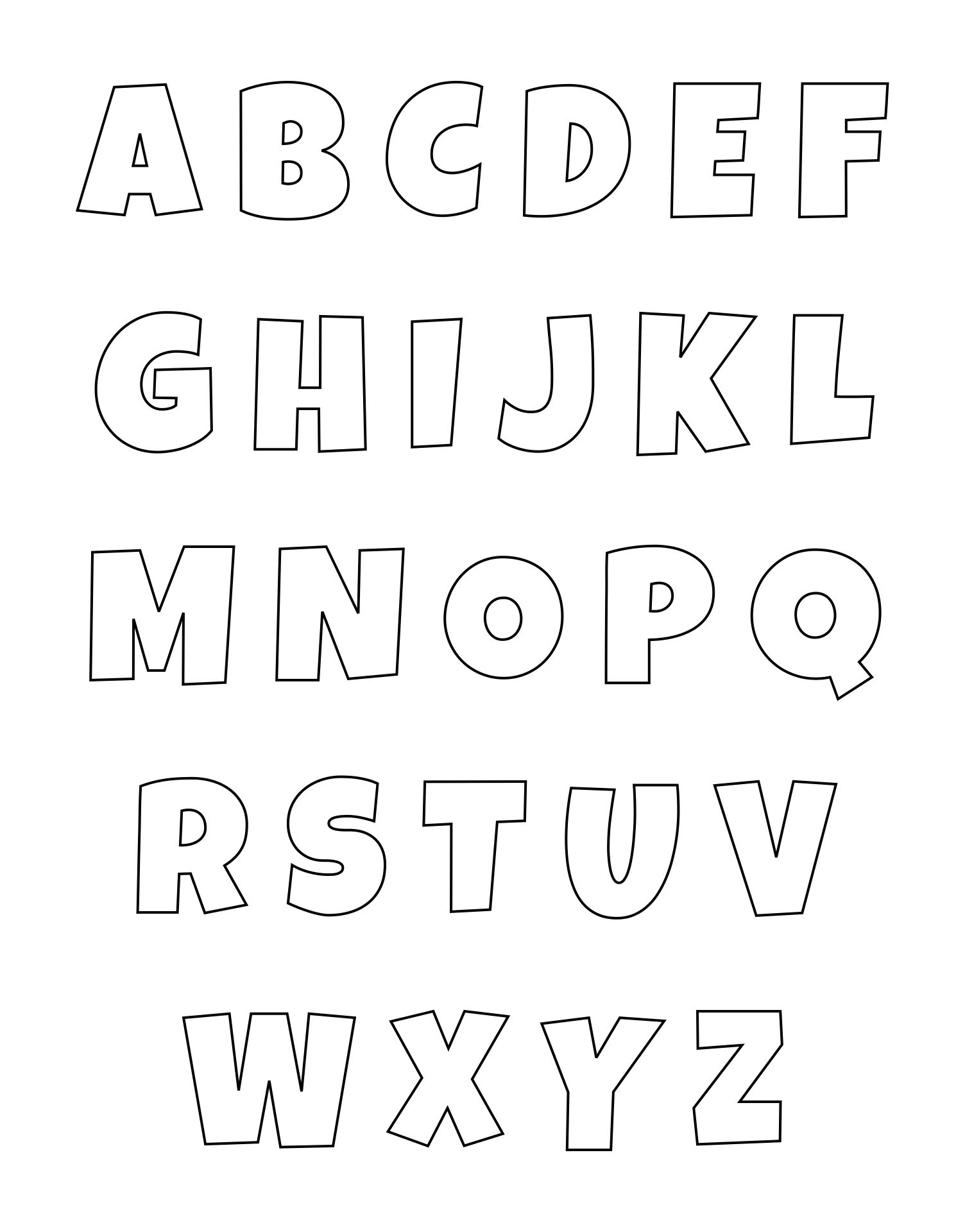 2 Inch Printable Block Letters