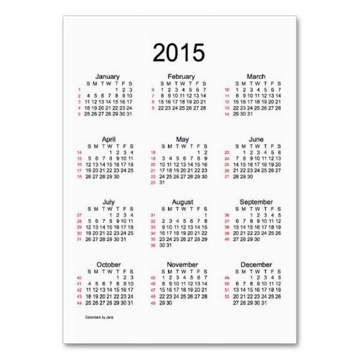 6 Images of Work Week Calendar 2015 Printable