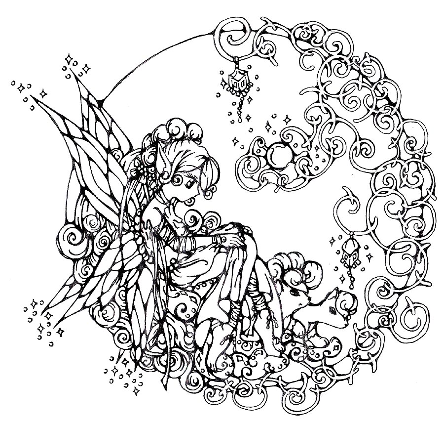 5 Images of Printable Christmas Coloring Pages For Adults