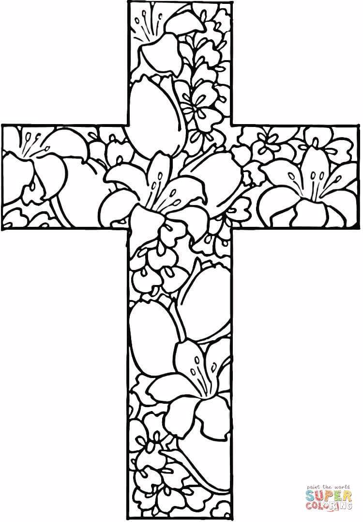 Adult Coloring Pages Free Printables Easter Cross