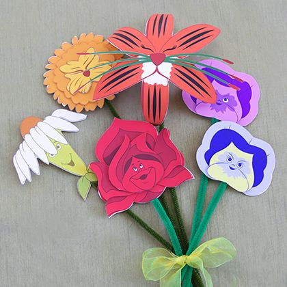 Alice in Wonderland Flower Craft