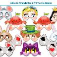 Alice in Wonderland Printable Masks