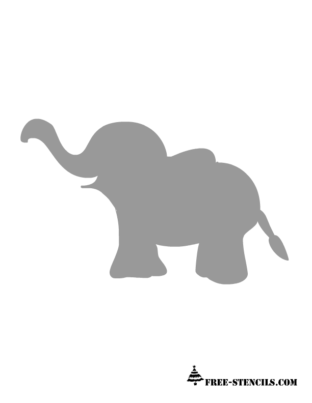 9 Images of Printable Elephant Stencil Wall