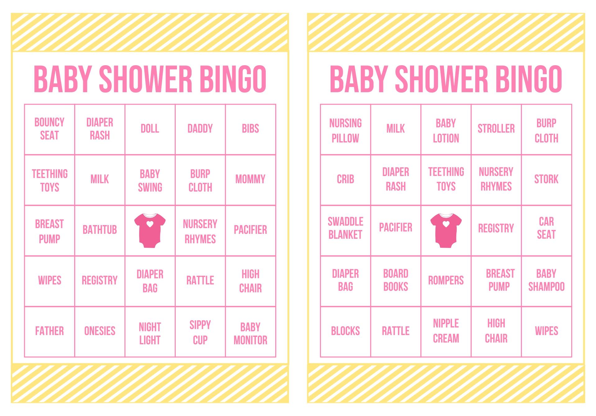 Baby Shower Ice Breaker Bingo
