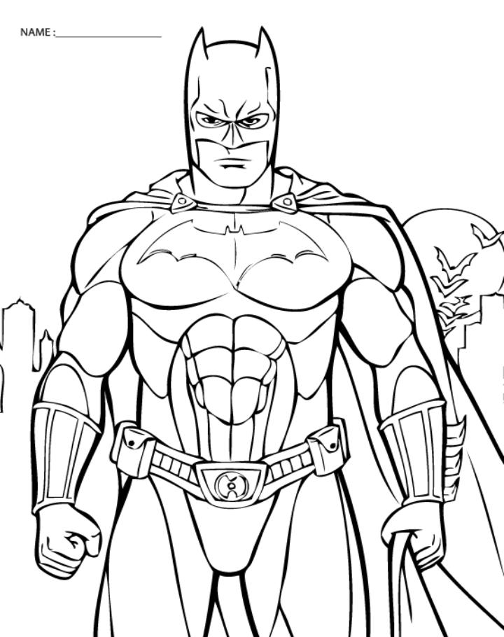 5 Images of Batman Coloring Printables