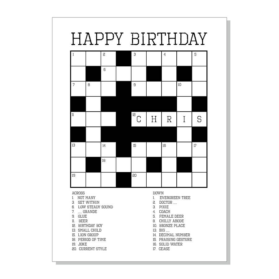 4 Images of Printable Birthday Puzzles