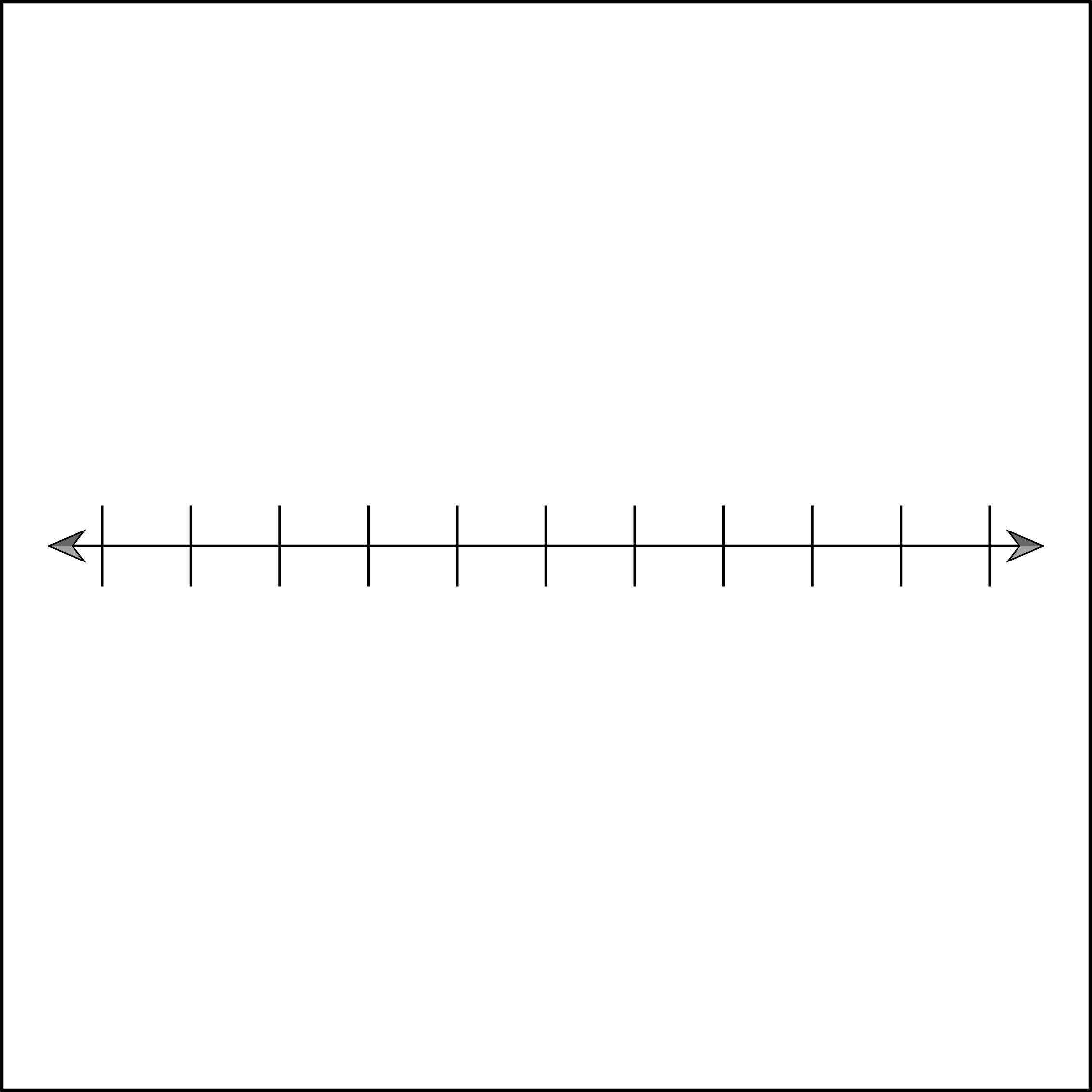 Blank Number Line 10