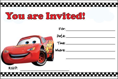 7 Images of Free Printable Cars Invitations Birthday