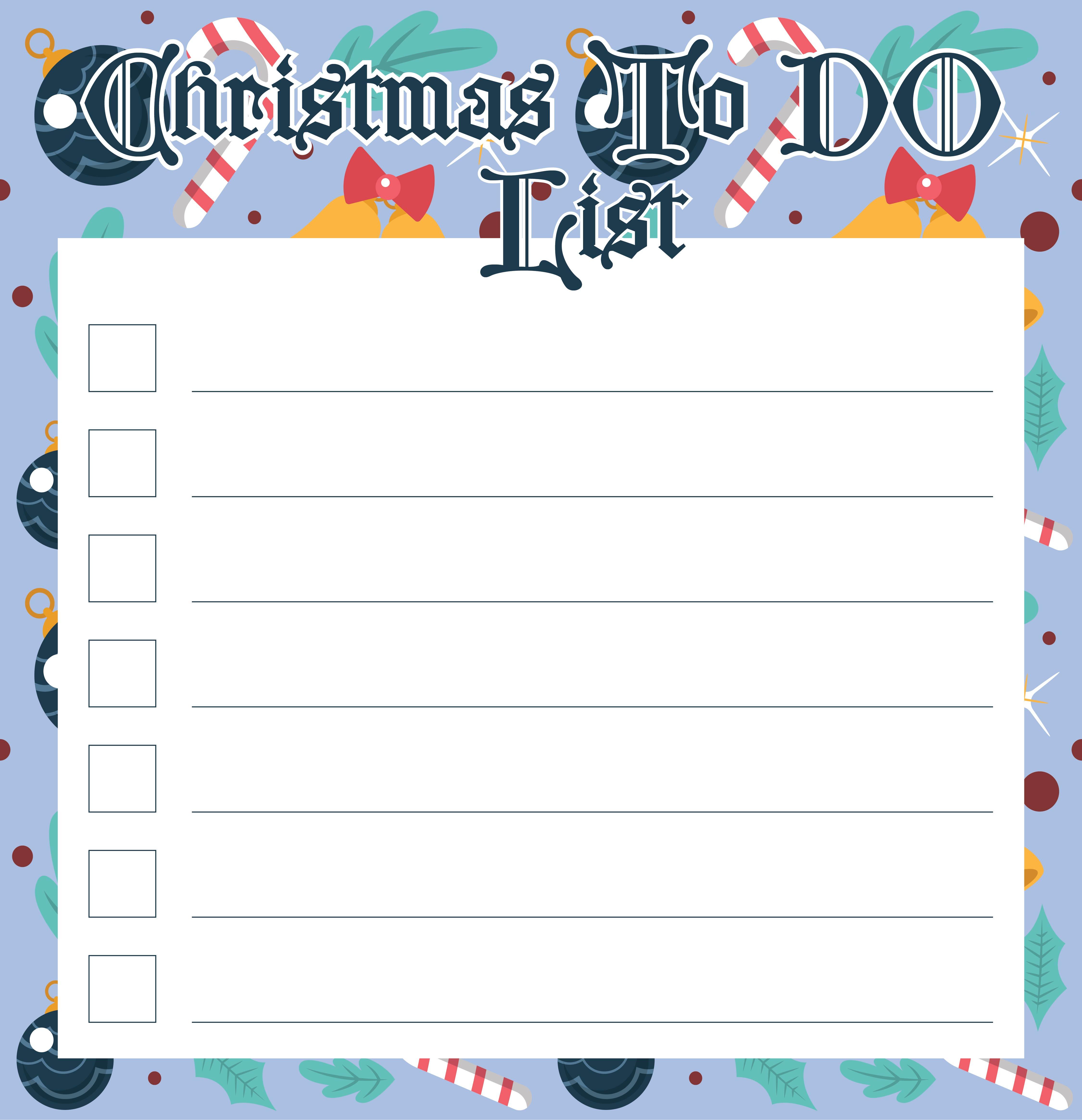 Christmas List Printable to Do