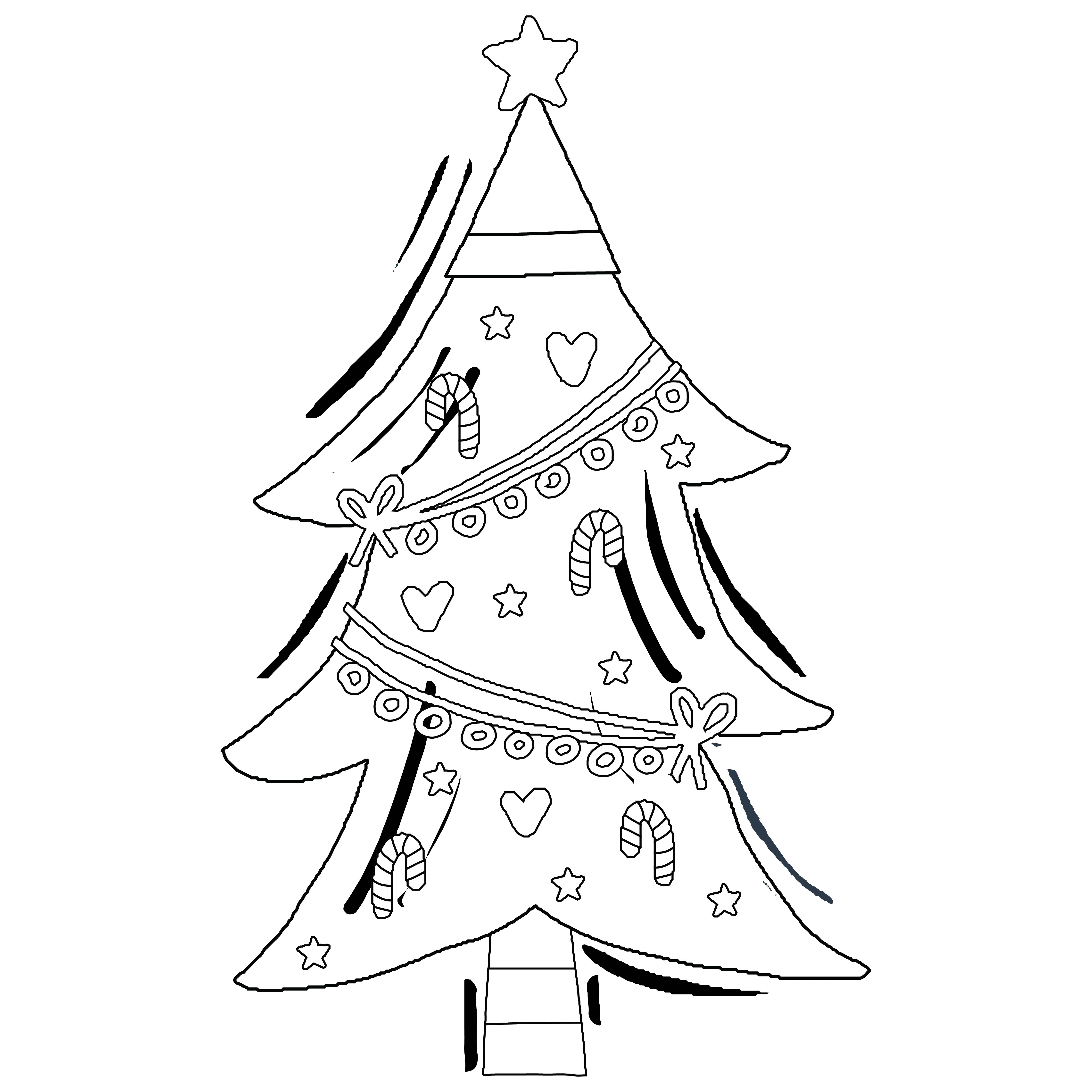 7 Images of Preschool Printables Christmas Tree