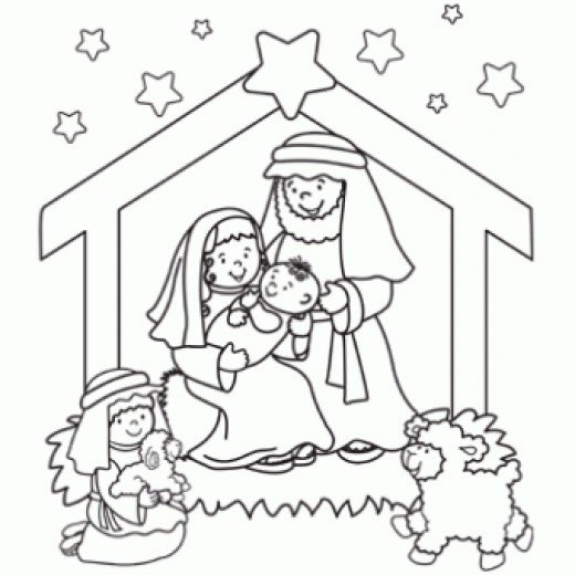4 Images of Printable Nativity Coloring Pages