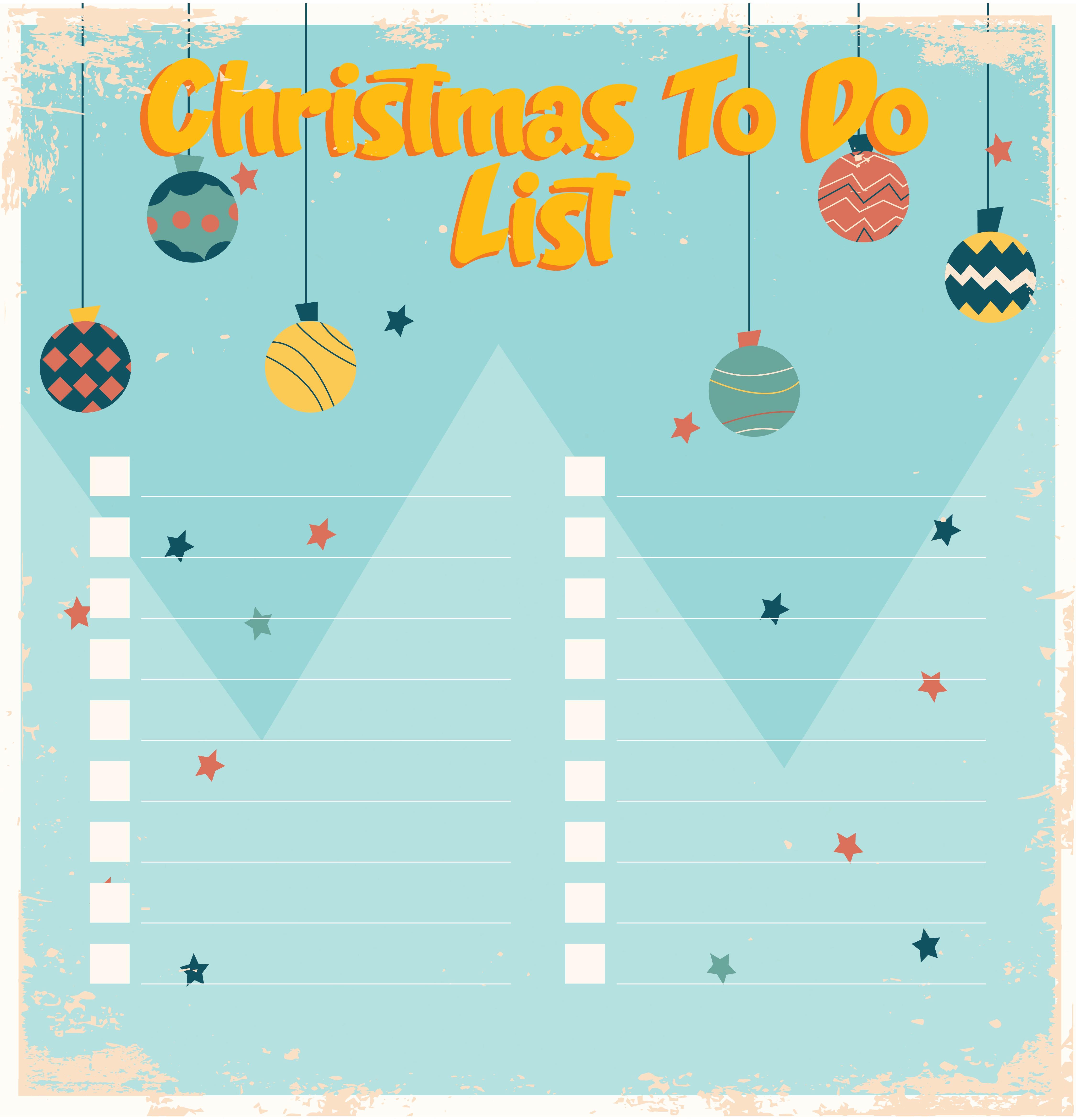 Christmas Things to Do Lists Printables