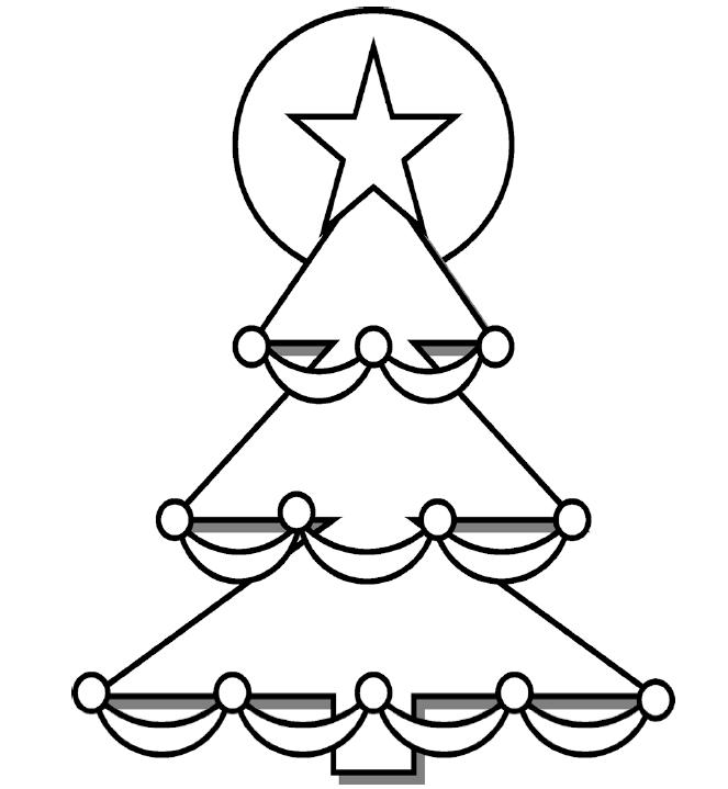 Christmas Tree Coloring Page Preschool