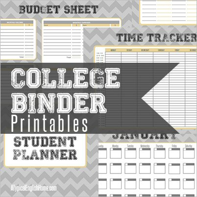 College Binder Free Printables