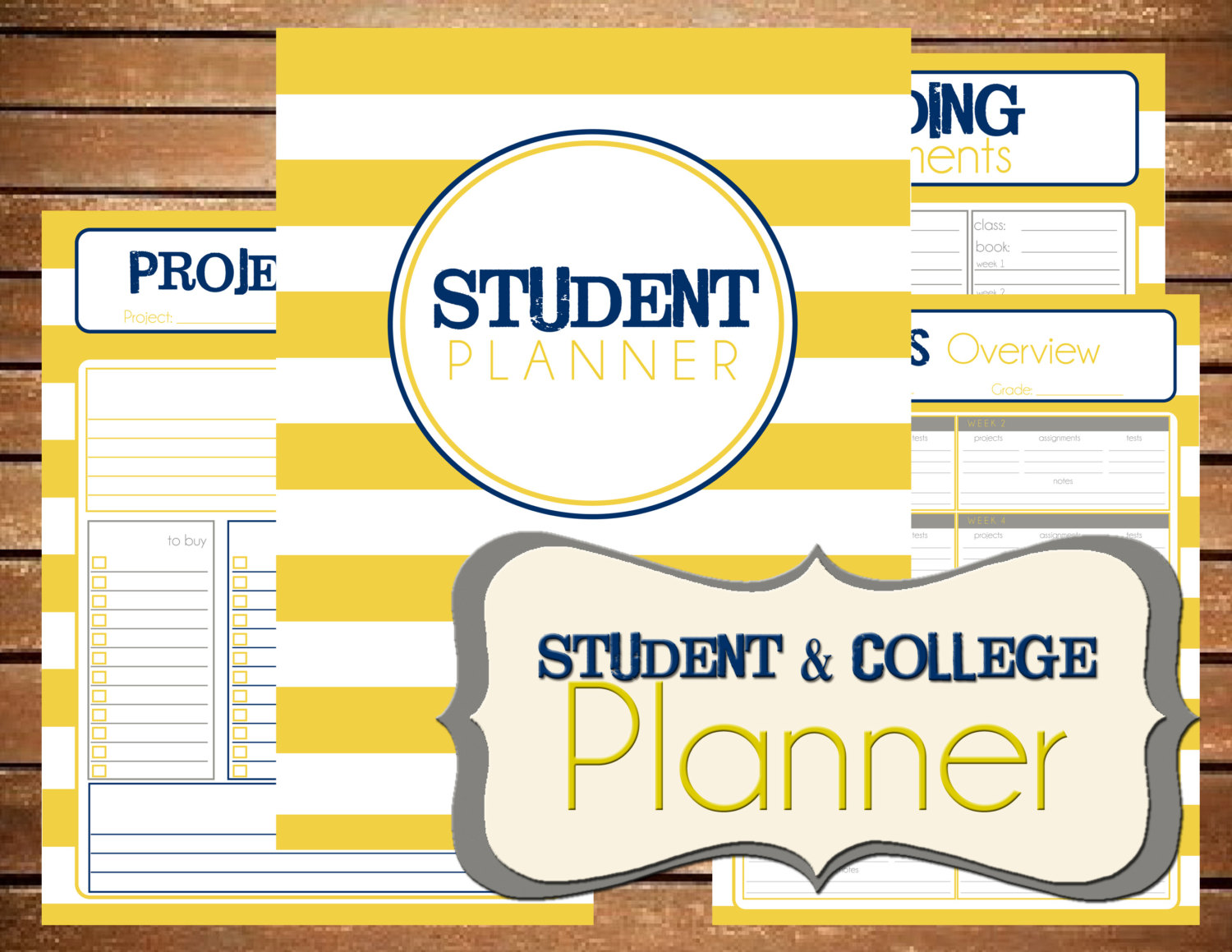 College Student Planner Printable