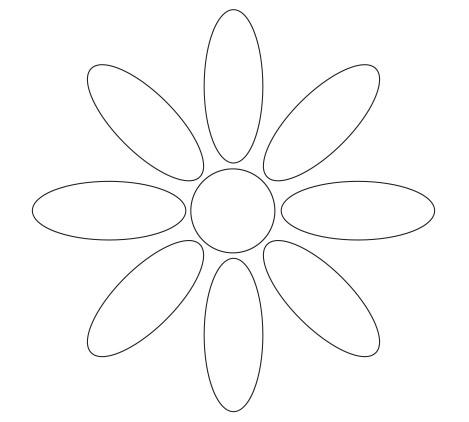 Daisy Flower Petal Template