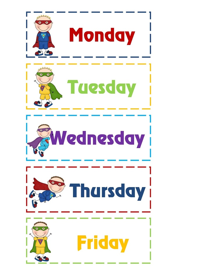 6 Best Images of Days Of The Week Printables For ...