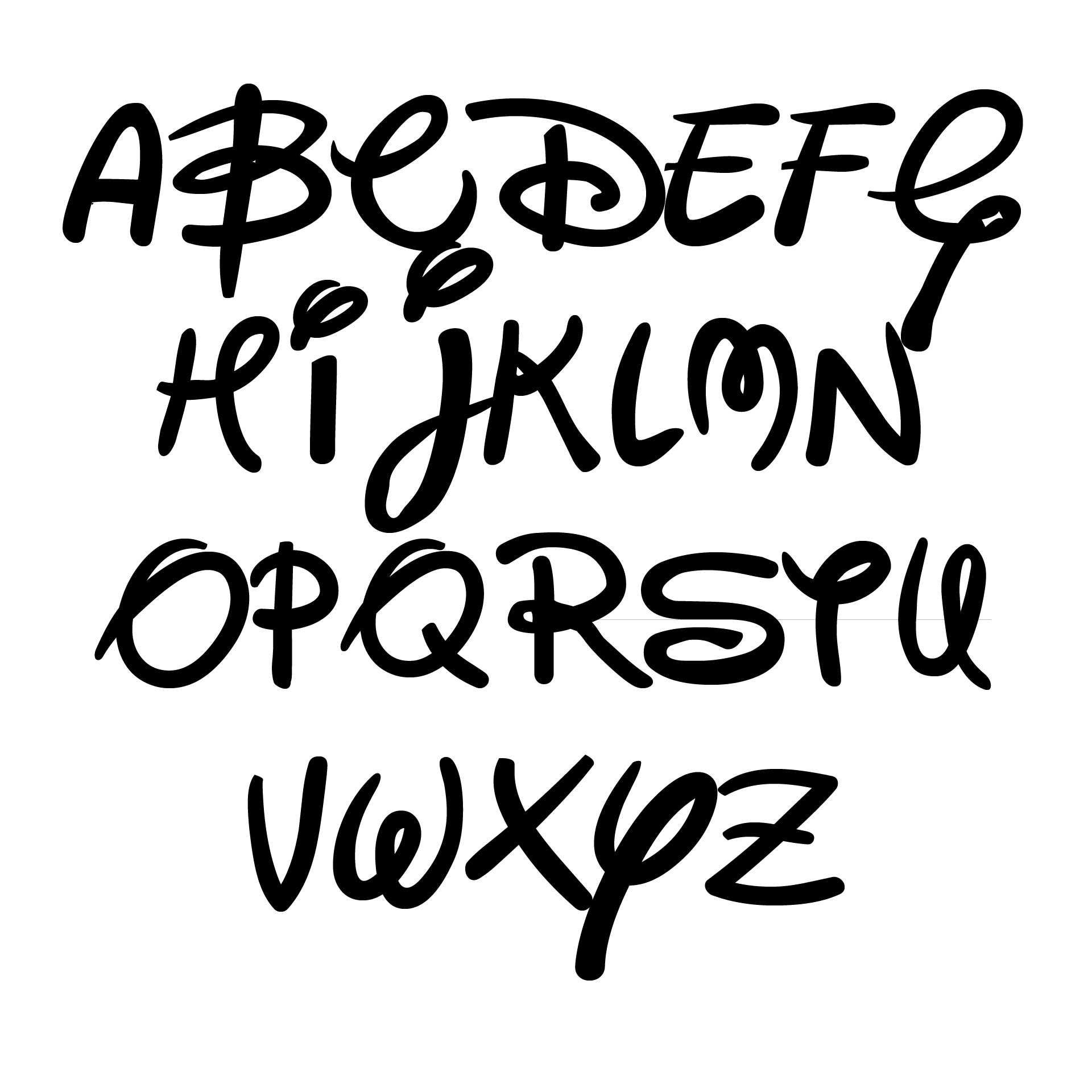 Disney Font Alphabet Letter Printables