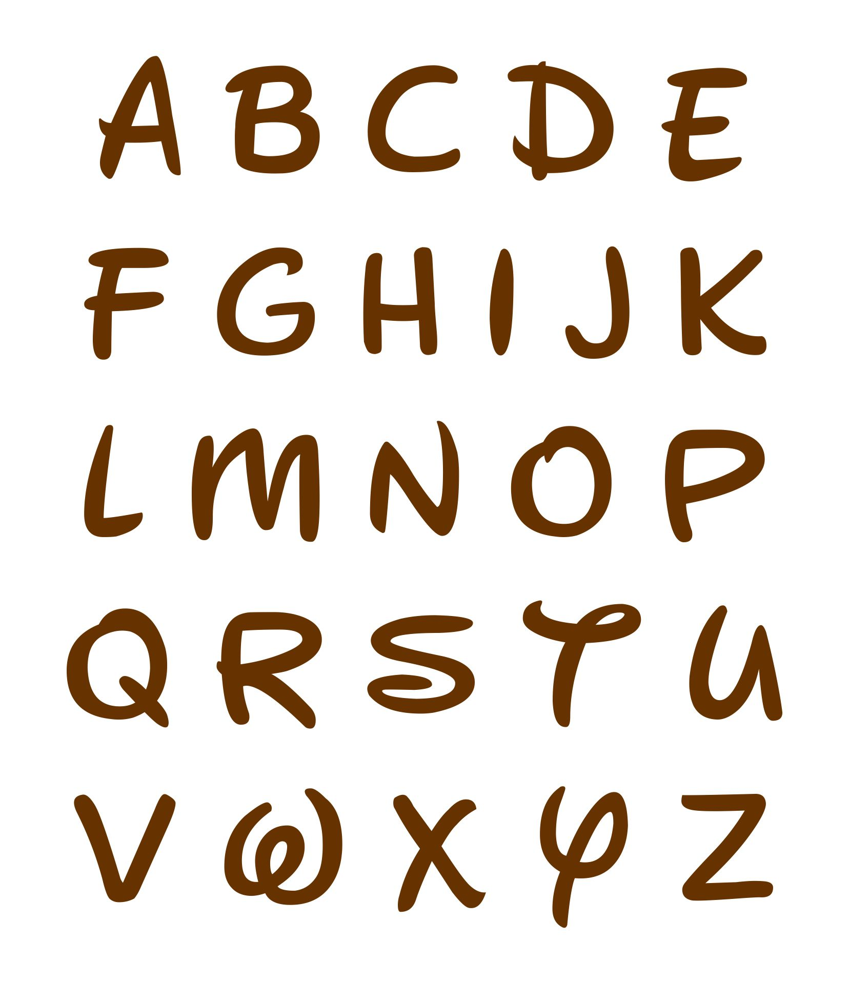 Post_alphabet Disney Font Printables_57770 on Coloring People Cut Outs