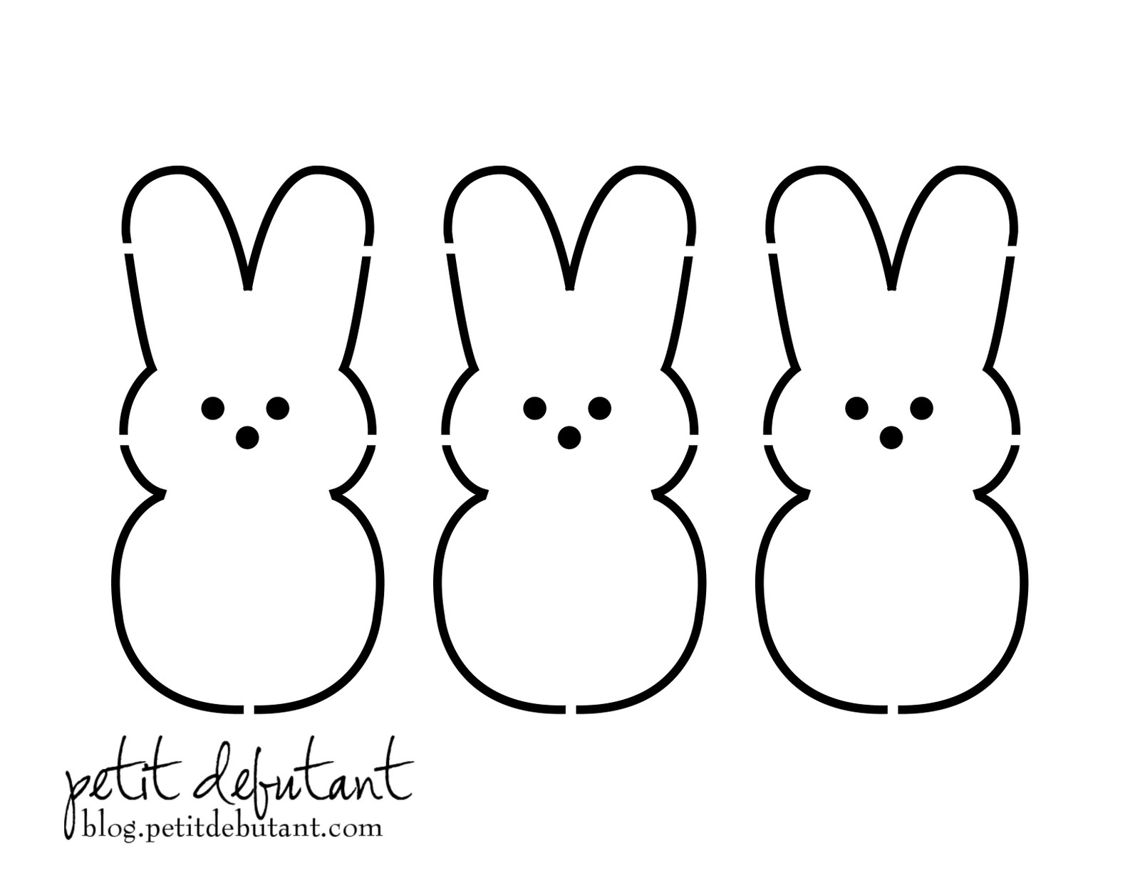 Easter Bunny Peep Template