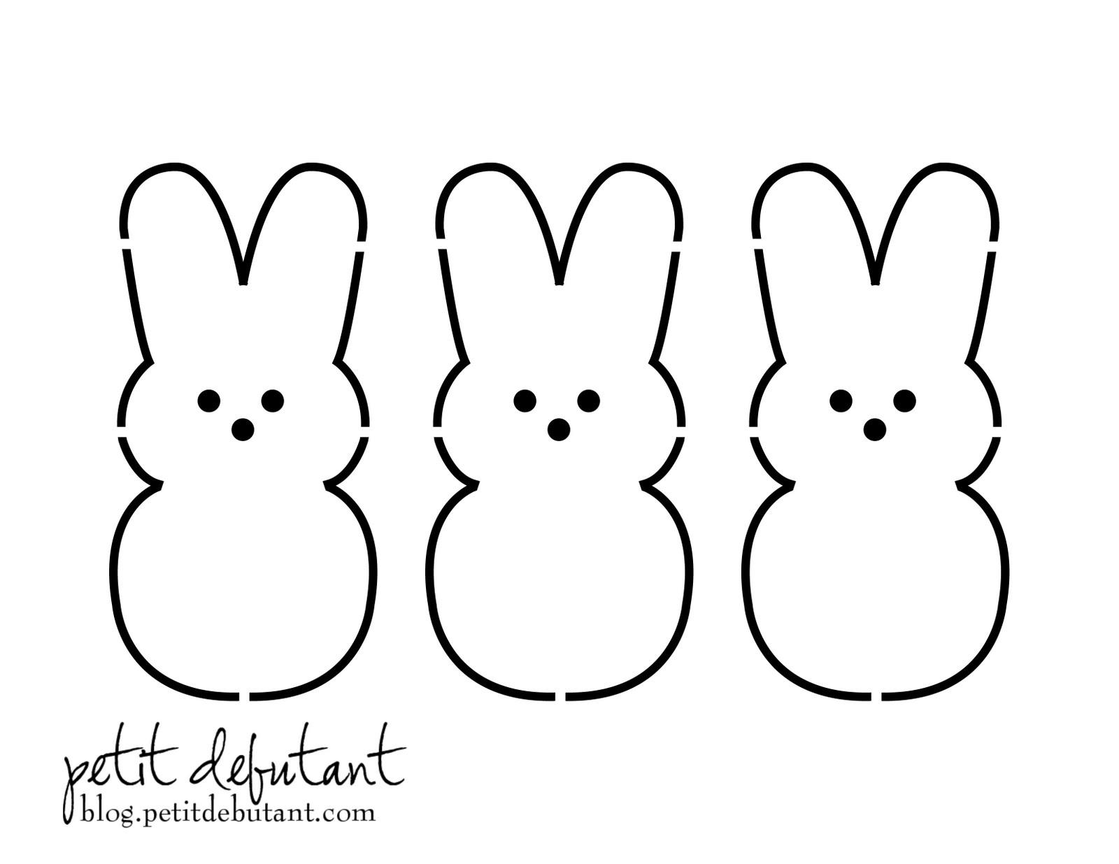 Easter Bunny Peep Template