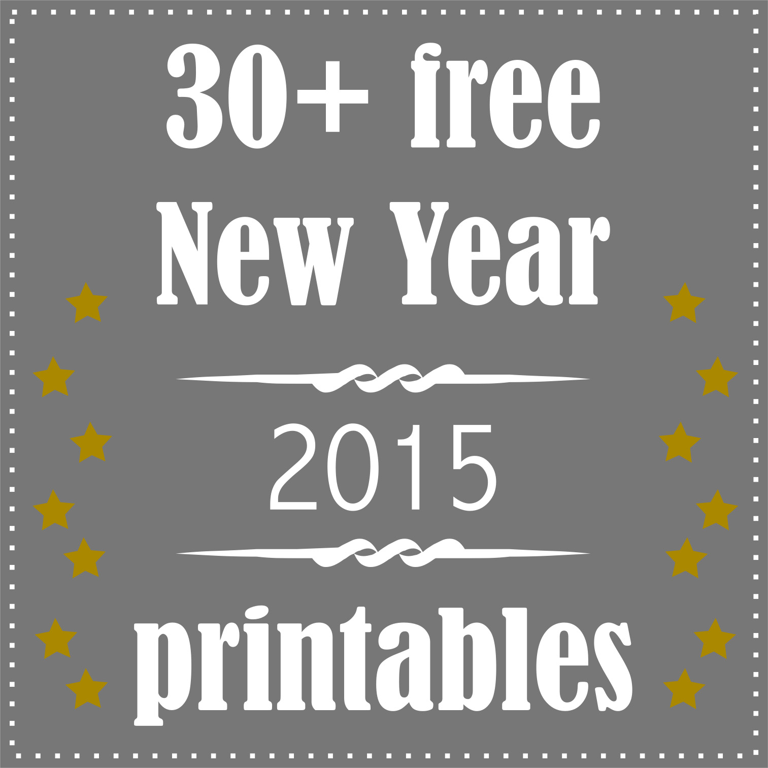 9 Images of Free Printables New Year's Eve 2016