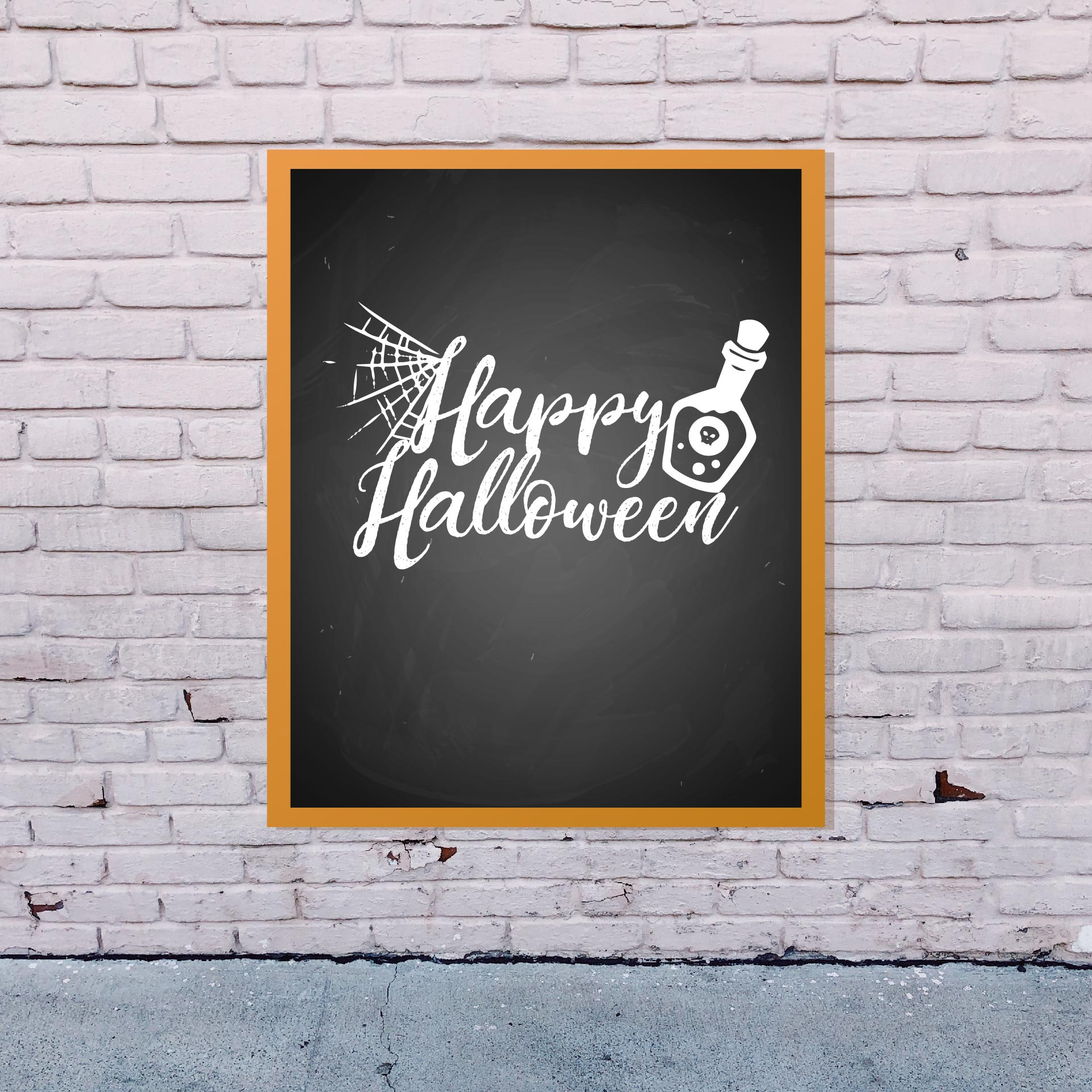 7 Images of Halloween Chalkboard Printables