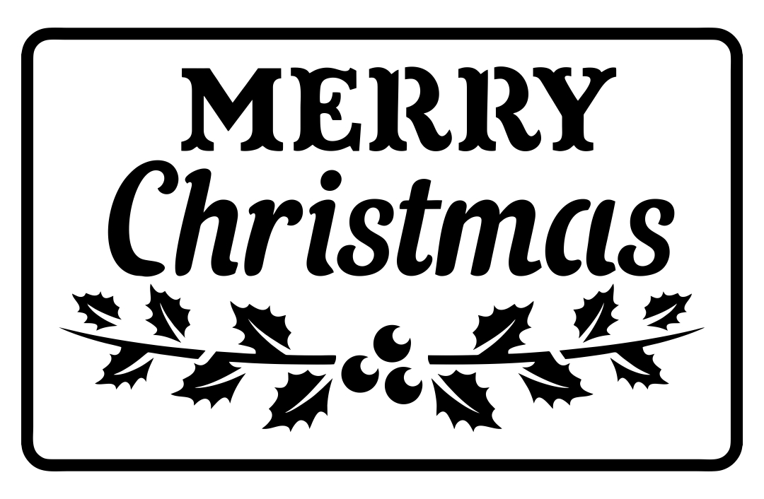 9 Images of Free Christmas Printable Stencil Patterns