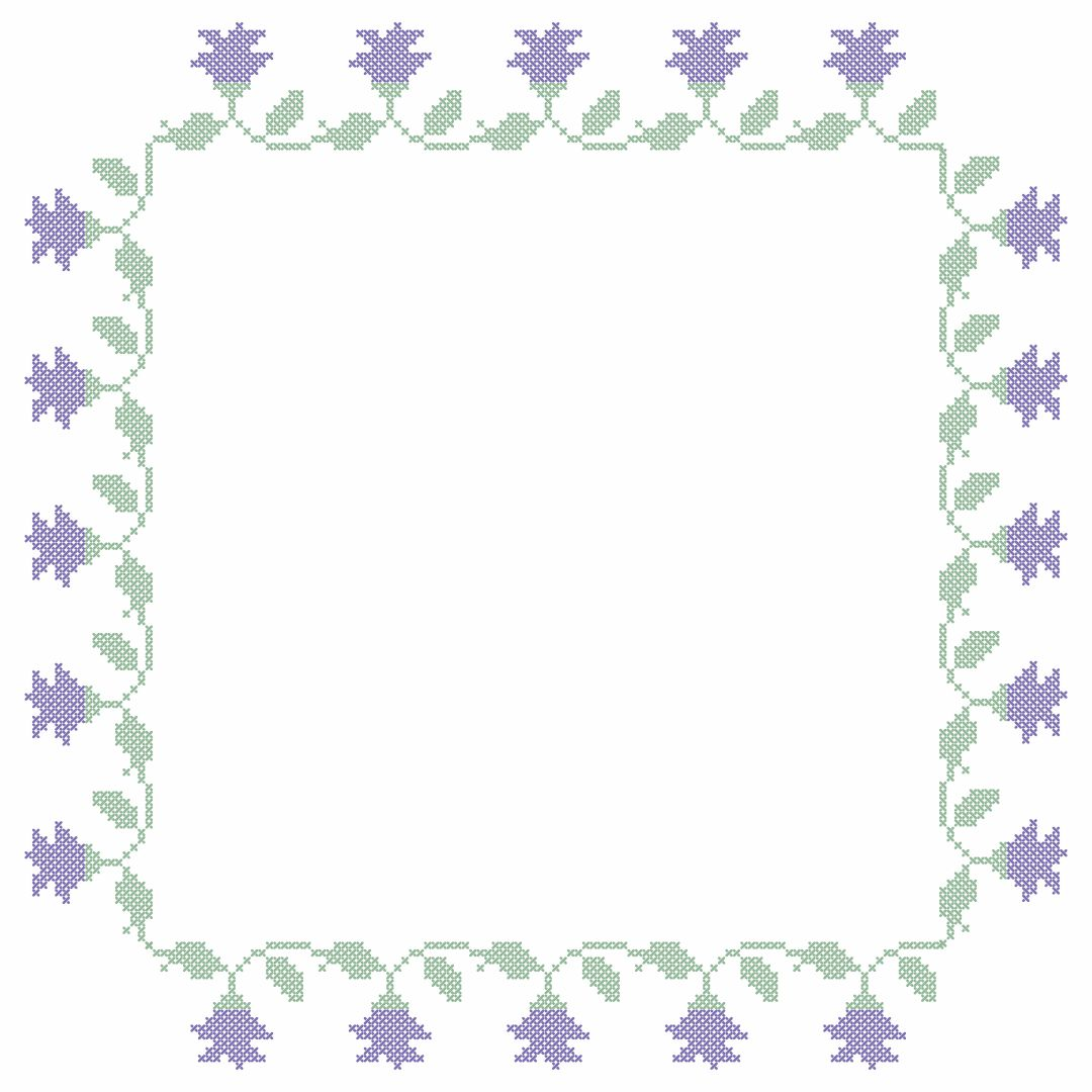7 Images of Printable Cross Stitch Borders