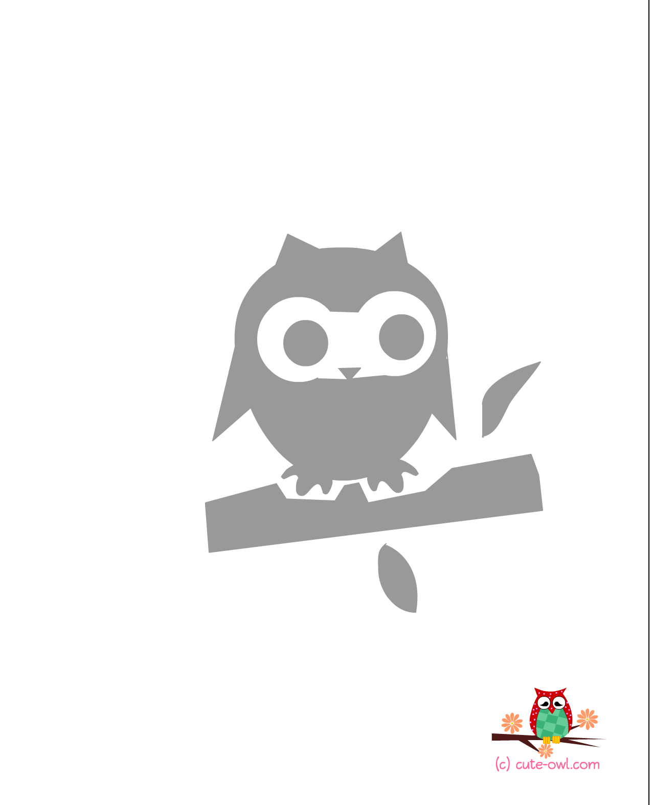 4 Images of Free Printable Owl Stencils