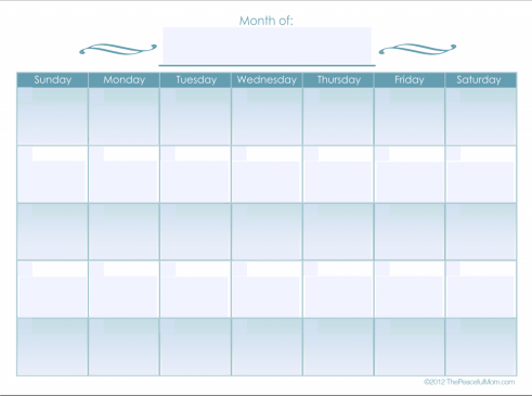 7 Images of Editable Monthly Calendar Printable