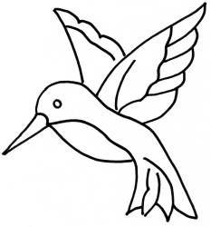 4 Images of Hummingbird Stencil Printable