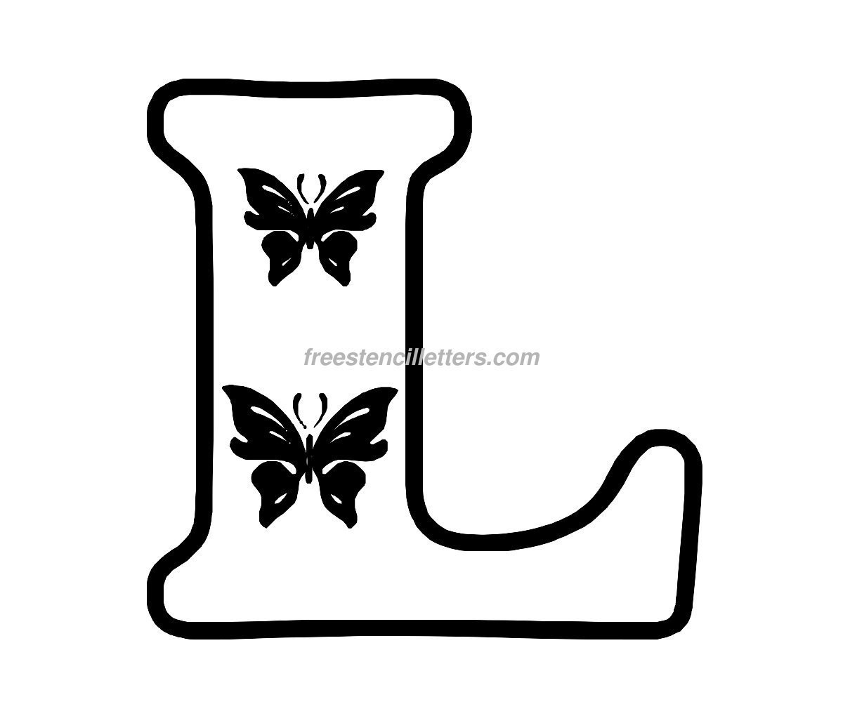 inch stencil letter l to print letter stencils to print and cut out
