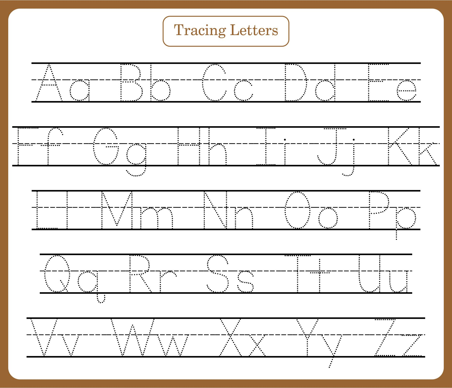 7 Best Images of Free Printable Tracing Letters - Preschool ...
