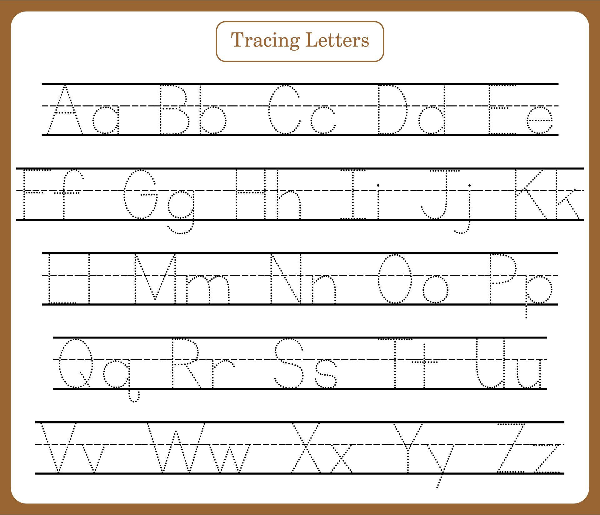 Number Names Worksheets preschool alphabet tracing : Free Alphabet Tracing Worksheets For Preschoolers - Intrepidpath