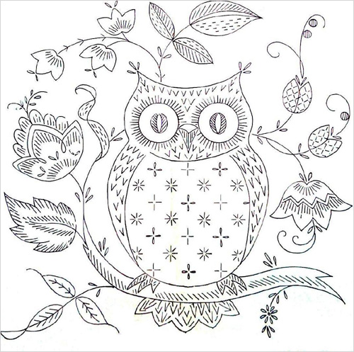 Free Owl Embroidery Pattern