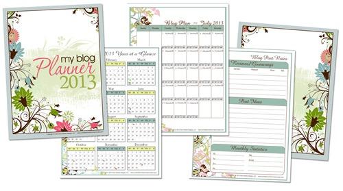 Free Planner Printables 2013
