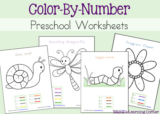 4 Images of Preschool Printable Numbers To Color
